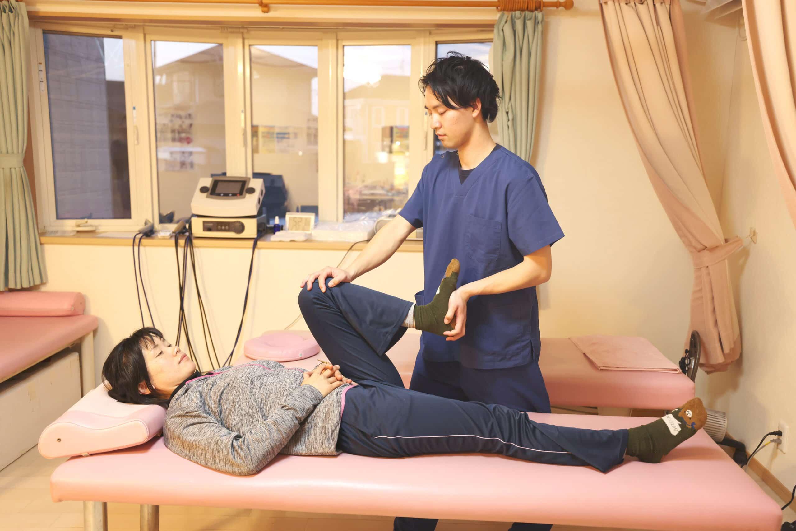骨格のバランスを改善させる施術